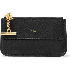 CHLOÉ  -  Drew textured-leather cardholder wallet